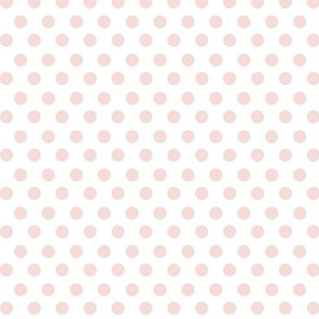 Simple Dot // Blush on White