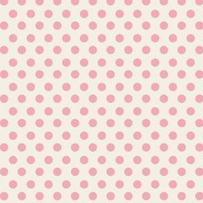 Simple Dot // Bubblegum on Ecru