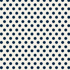 Simple Dot // Navy on Ecru