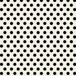 Simple Dot // Black on Ecru