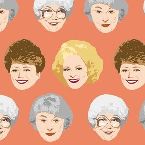 Golden Girls Faces - Large Coral