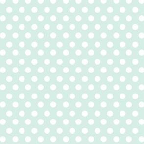 Simple Dot // White on Robin's Egg