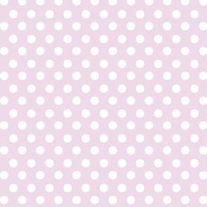 Simple Dot // White on Lavender