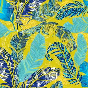 Blue Feather Prints