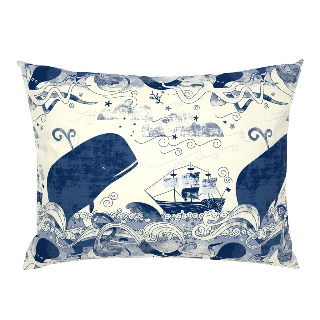 Campine Pillow Sham featuring Sea 'n' Me by Mount Vic and Me by mountvicandme