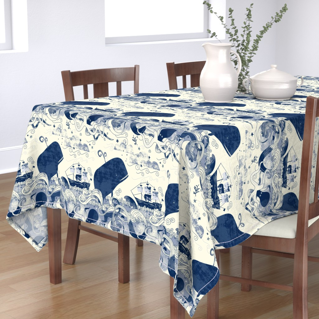Bantam Rectangular Tablecloth featuring Sea 'n' Me by Mount Vic and Me by mountvicandme