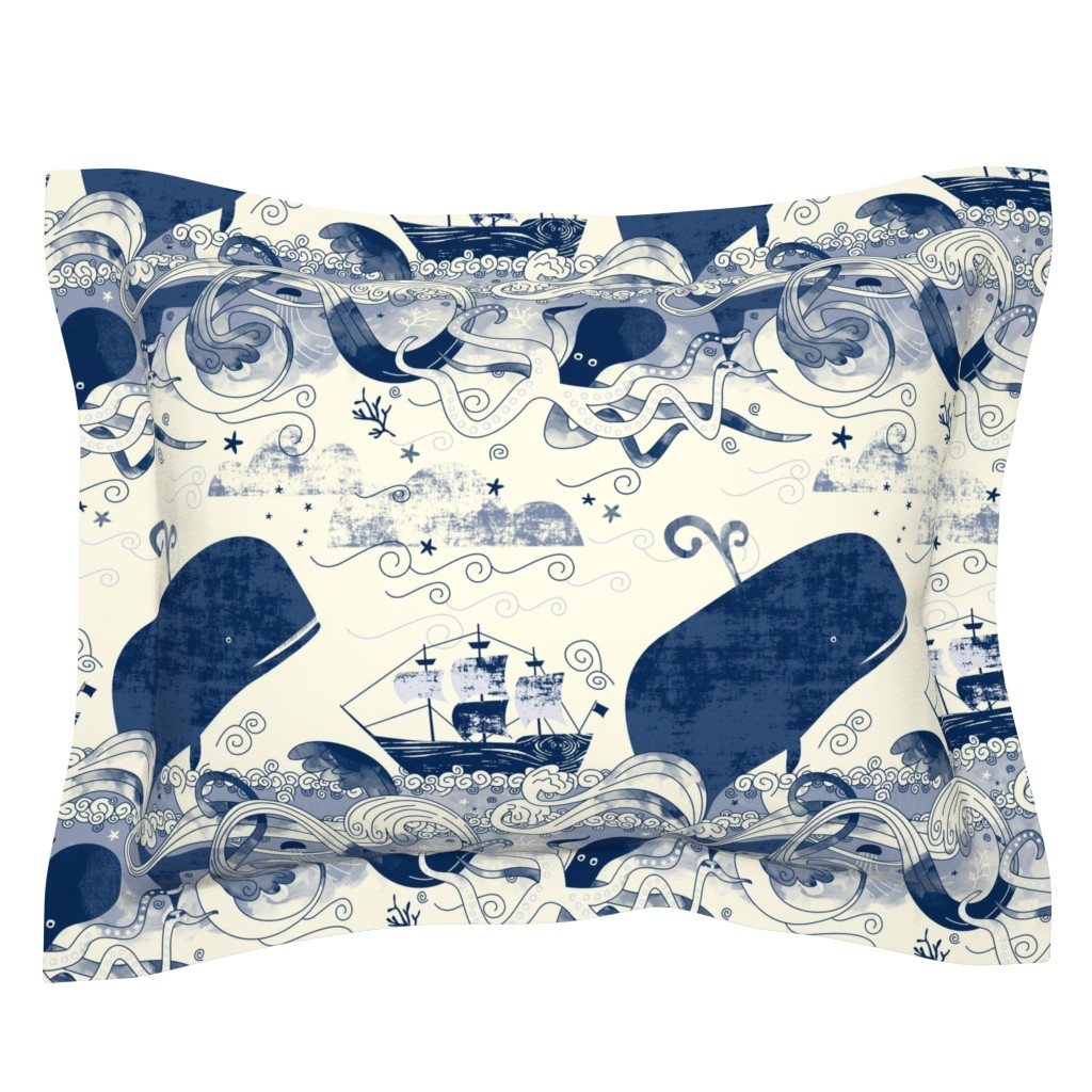 Sebright Pillow Sham featuring Sea 'n' Me by Mount Vic and Me by mountvicandme