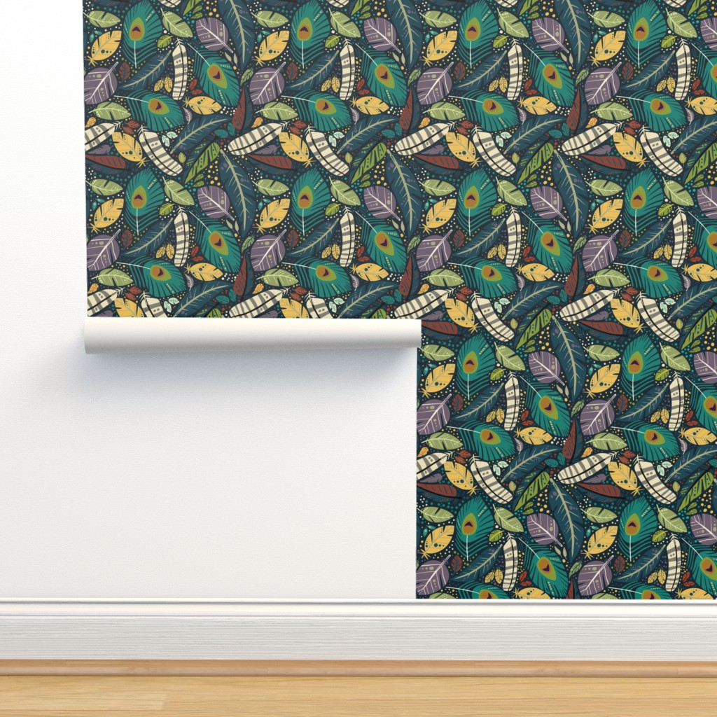 Isobar Durable Wallpaper featuring Birds of a feather  by vicki_larner