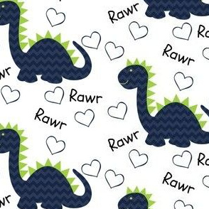 Navy and Green Dinos