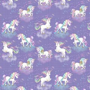 Pastel Rainbow Unicorn in purple