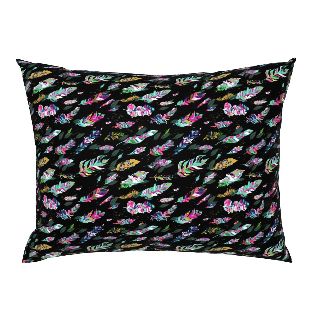 Campine Pillow Sham featuring Flowing Feathers by stasiajahadi