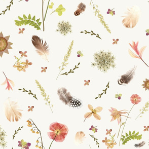 Feathers among Wildflowers lg