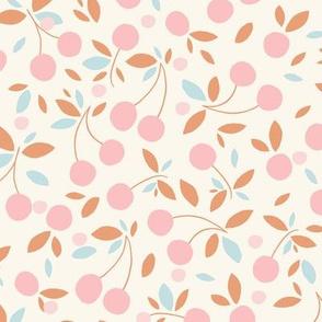 Cherry bowl pink on beige