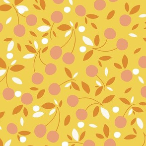 Cherry bowl earthy yellow