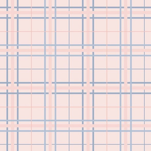 Summer Plaid: Rose Gold & Dusty Blue Plaid