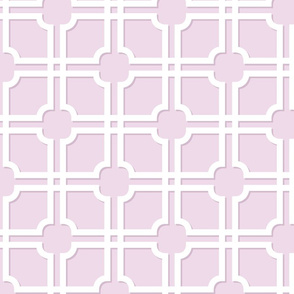 Lattice Gate // Lavender and White