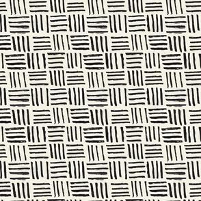 Basket Hatch // Black and White on Cream