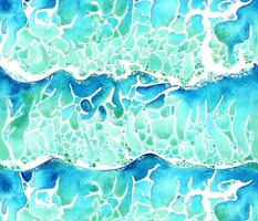 Waves of Paradise in Watercolour