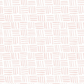 Basket Hatch // Blush on White