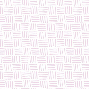 Basket Hatch // Lavender on White