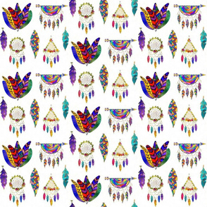Colorful Dreamcatchers N Feathers