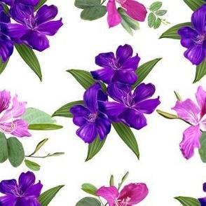 Lilies In Purple Hues