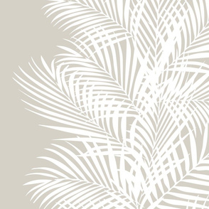 Frond stripe beige and white