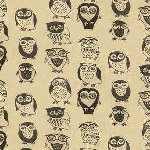 brown black retro vintage owl
