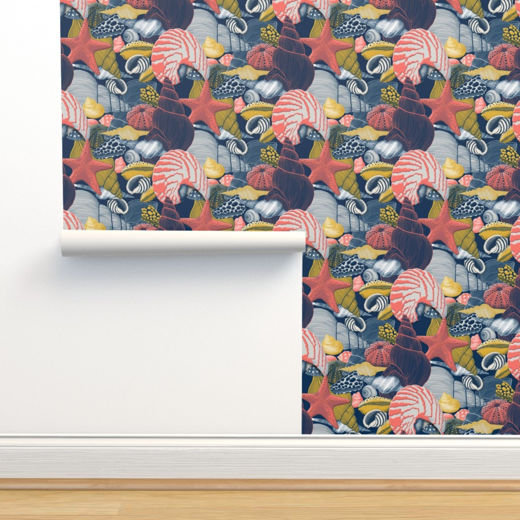 Isobar Durable Wallpaper featuring Shells by j9design