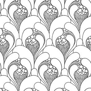 Art Nouveau Outline Large