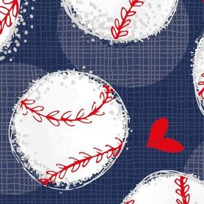 NAVY Baseball Lovers Unite! Large Scale