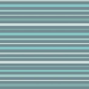 Stormy Sea Stripes Blue Even Varied