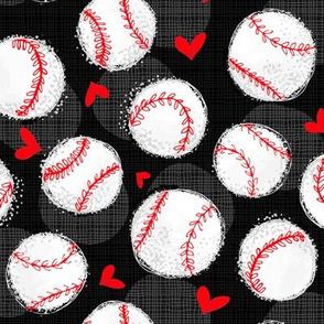 Baseball Lovers Unite! Black Medium Scale