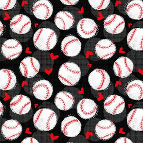 Baseball Lovers Unite! Black Small Scale