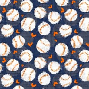 Baseball Lovers Unite! Blue and Orange Small Scale