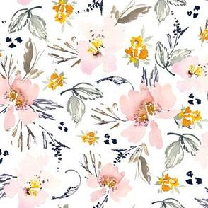 Medium watercolor floral pink Spring floral flowers
