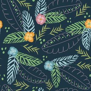 Tropical bouquet blue green