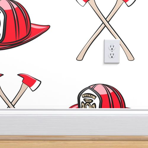 Wallpaper Small Scale Firefighter Helmet And Axe C19bs