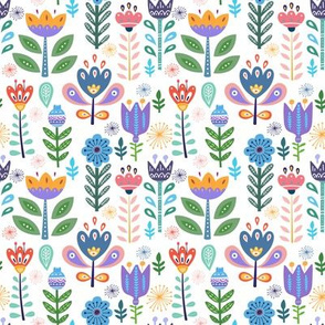 Garden Of Whimsical Flowery Delights