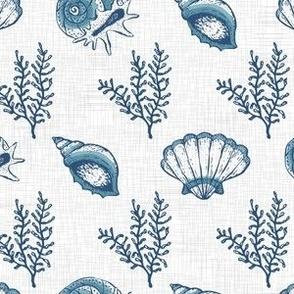 Blue Seashells Textured V.01