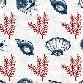 Red & Blue Seashells V.01