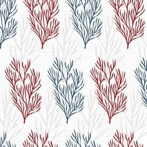 Red & Blue Seaweeds Textured V.02