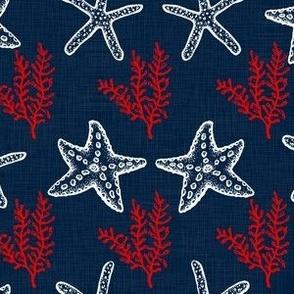 Starfish Blue Textured V.01