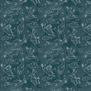 Dreaming Llamas - Larger Print