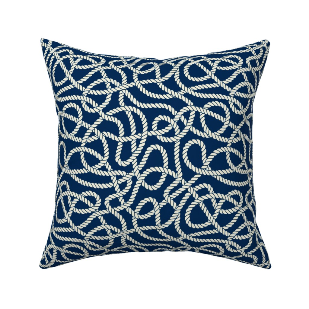 Catalan Throw Pillow featuring Tangled Ropes by anastasiia_macaluso