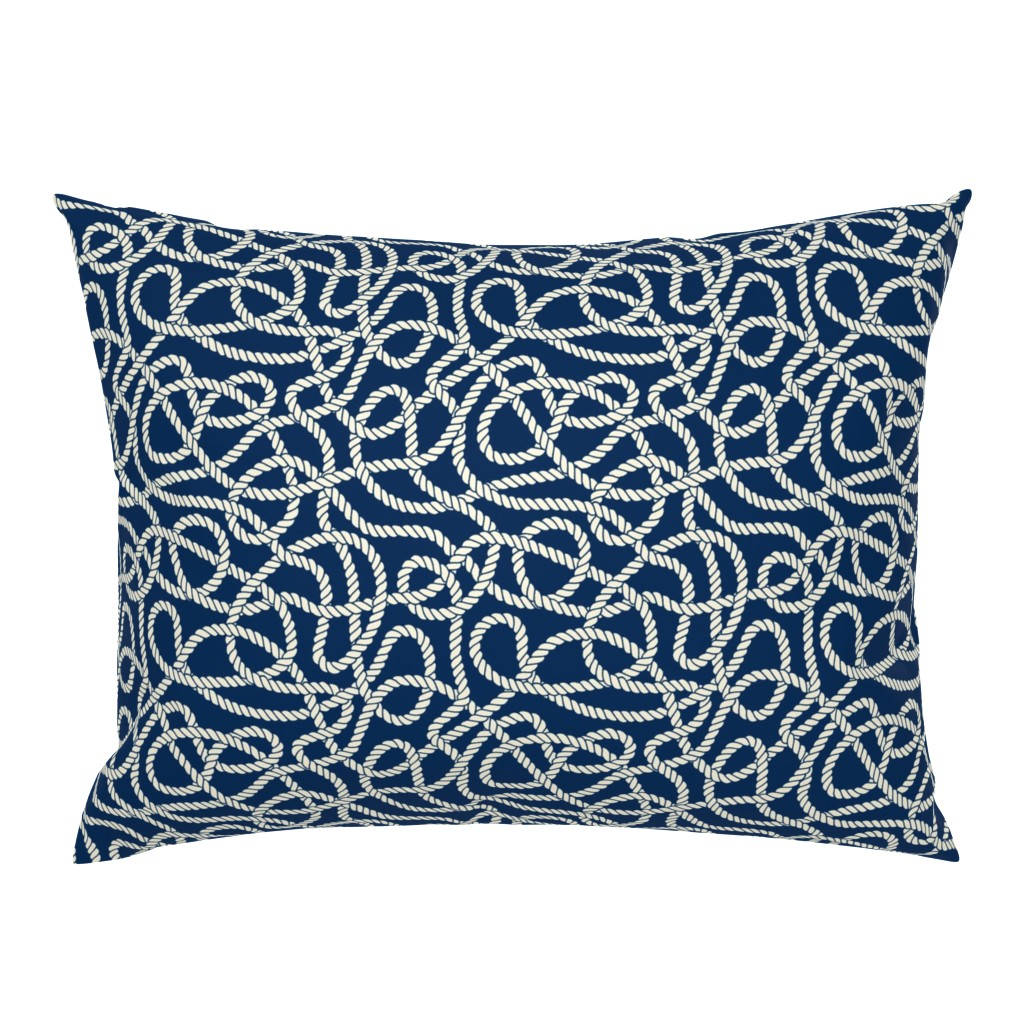 Campine Pillow Sham featuring Tangled Ropes by anastasiia_macaluso