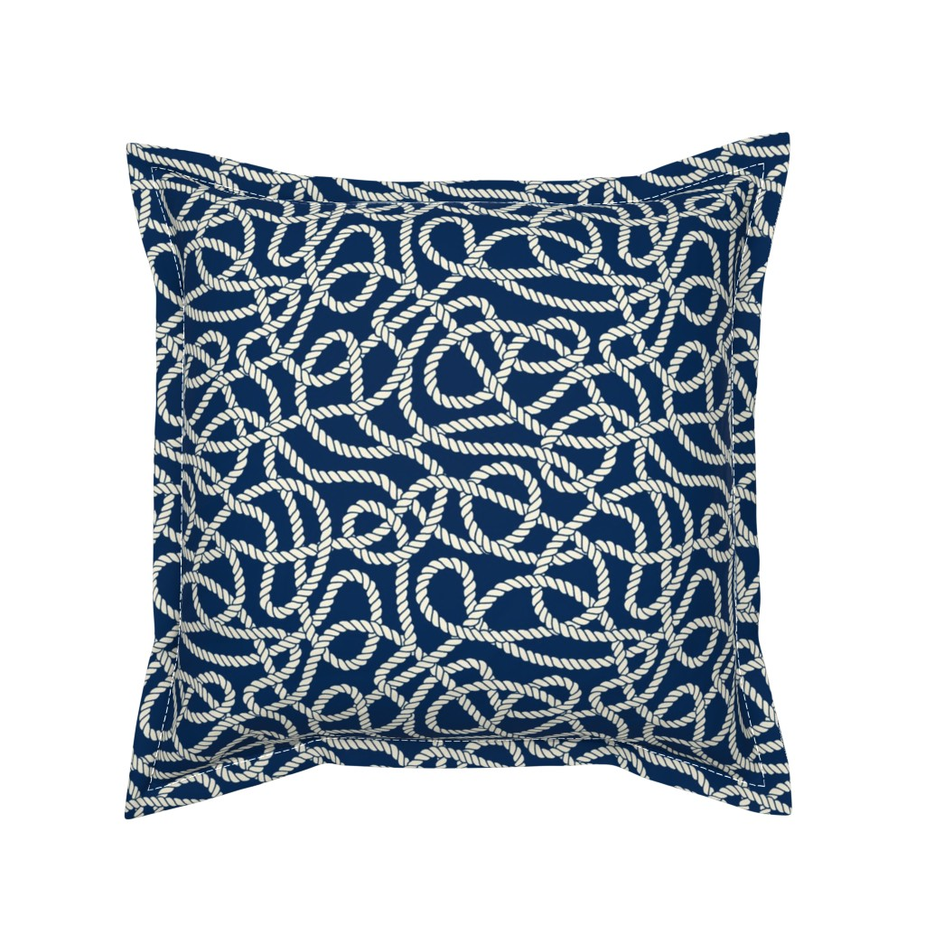 Serama Throw Pillow featuring Tangled Ropes by anastasiia_macaluso