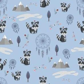 Boho Racoons Pattern