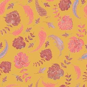 Boho Patterns of Paradise Yellow & Coral