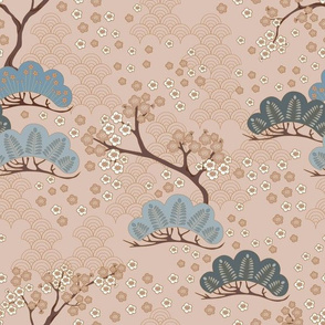 Sakura Grey & Brown